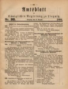 Amtsblatt der Königlichen Regierung zu Liegnitz, 1884, Jg. 74, Nr. 32