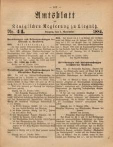 Amtsblatt der Königlichen Regierung zu Liegnitz, 1884, Jg. 74, Nr. 44