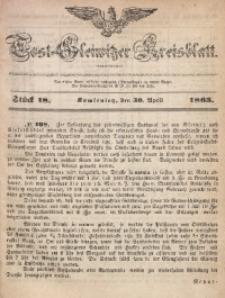 Tost-Gleiwitzer Kreisblatt, 1863, Jg. 21, St. 18