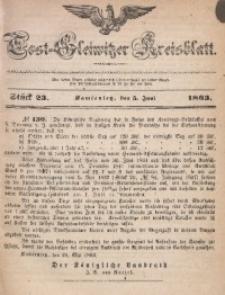 Tost-Gleiwitzer Kreisblatt, 1863, Jg. 21, St. 23