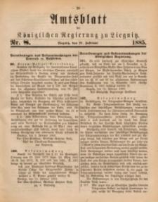 Amtsblatt der Königlichen Regierung zu Liegnitz, 1885, Jg. 75, Nr. 8