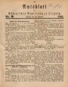 Amtsblatt der Königlichen Regierung zu Liegnitz, 1885, Jg. 75, Nr. 9