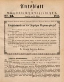 Amtsblatt der Königlichen Regierung zu Liegnitz, 1885, Jg. 75, Nr. 13