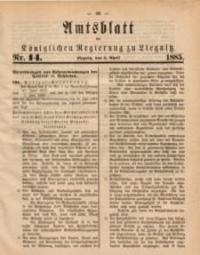 Amtsblatt der Königlichen Regierung zu Liegnitz, 1885, Jg. 75, Nr. 14