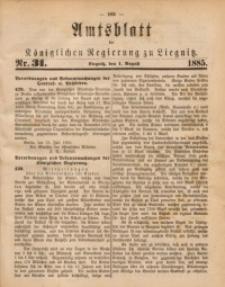 Amtsblatt der Königlichen Regierung zu Liegnitz, 1885, Jg. 75, Nr. 31