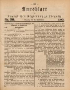 Amtsblatt der Königlichen Regierung zu Liegnitz, 1885, Jg. 75, Nr. 39