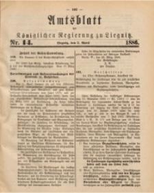 Amtsblatt der Königlichen Regierung zu Liegnitz, 1886, Jg. 76, Nr. 14