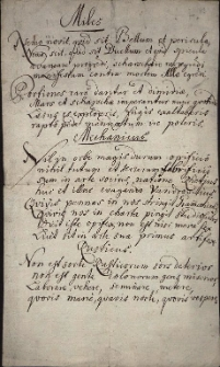 Wiersz łaciński o niedoli różnych stanów prezentowanych przez żołnierza (Miles), mechanika (Mechanicus), chłopa (Rusticus) i żebraka (Mendicus)