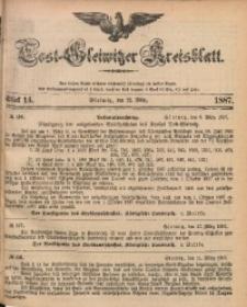 Tost-Gleiwitzer Kreisblatt, 1887, Jg. 45, St. 14