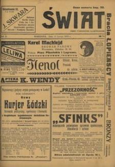 Świat. Pismo Tygodniowe Ilustrowane, 1916, Rok XI, nr 7
