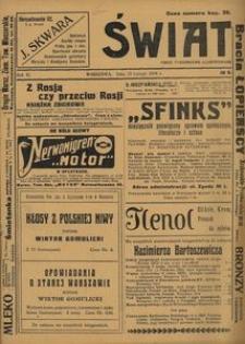 Świat. Pismo Tygodniowe Ilustrowane, 1916, Rok XI, nr 8