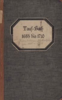 Tauf - Buch 1685 bis 1710.