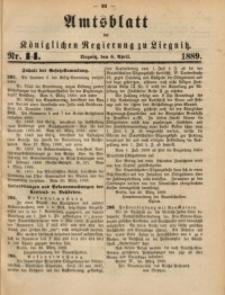 Amtsblatt der Königlichen Regierung zu Liegnitz, 1889, Jg. 79, Nr. 14