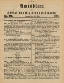 Amtsblatt der Königlichen Regierung zu Liegnitz, 1891, Jg. 81, Nr. 12