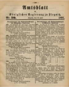 Amtsblatt der Königlichen Regierung zu Liegnitz, 1891, Jg. 81, Nr. 29