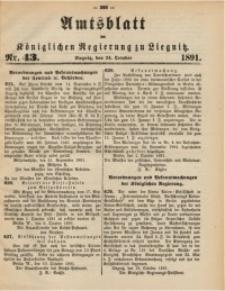 Amtsblatt der Königlichen Regierung zu Liegnitz, 1891, Jg. 81, Nr. 43