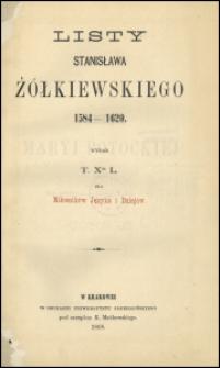 Listy Stanisława Żółkiewskiego 1584-1620