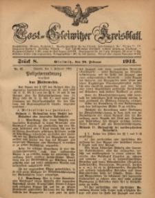 Tost-Gleiwitzer Kreisblatt, 1912, Jg. 70, St. 8