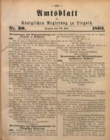 Amtsblatt der Königlichen Regierung zu Liegnitz, 1892, Jg. 82, Nr. 30