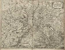 Carte von Lottringen Ellass Franche Comte Schweizerland und Würtenberg