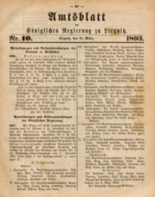 Amts-Blatt der Königlichen Regierung zu Liegnitz, 1893, Jg. 83, Nr. 10