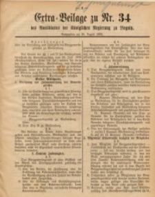 Extra-Beilage zu Nr. 34 des Amtsblattes der Königlichen Regierung zu Liegnitz