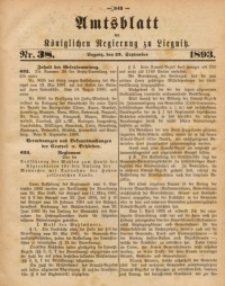 Amts-Blatt der Königlichen Regierung zu Liegnitz, 1893, Jg. 83, Nr. 38