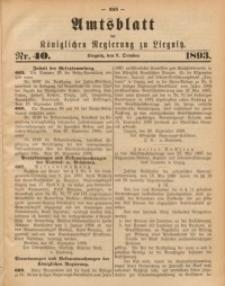 Amts-Blatt der Königlichen Regierung zu Liegnitz, 1893, Jg. 83, Nr. 40