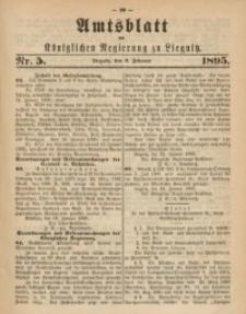 Amtsblatt der Königlichen Regierung zu Liegnitz, 1895, Jg. 85, Nr. 5