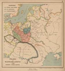 Polska za Władysława Lokietka r. 1333 Dzierżawy Litewskie Giedymina