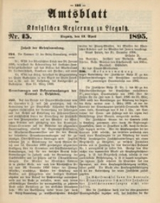 Amtsblatt der Königlichen Regierung zu Liegnitz, 1895, Jg. 85, Nr. 15