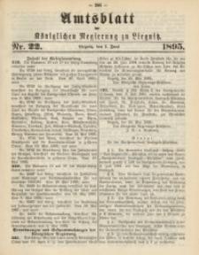 Amtsblatt der Königlichen Regierung zu Liegnitz, 1895, Jg. 85, Nr. 22