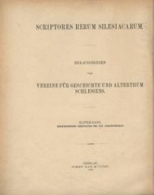 Scriptores rerum silesiacarum. Bd. 11, Schweidnitzer Chronisten des XVI. Jahrhunderts