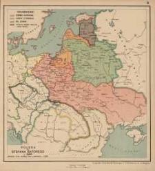 Polska za Stefana Batorego r. 1586. podział ziem według Unii Lubelskiej r. 1569