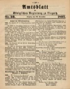 Amtsblatt der Königlichen Regierung zu Liegnitz, 1895, Jg. 85, Nr. 52