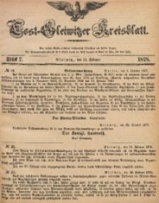 Tost-Gleiwitzer Kreisblatt, 1878, Jg. 36, St. 7