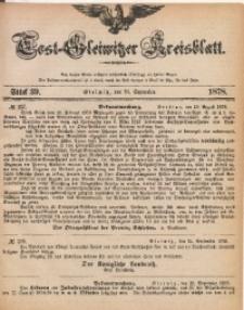 Tost-Gleiwitzer Kreisblatt, 1878, Jg. 36, St. 39