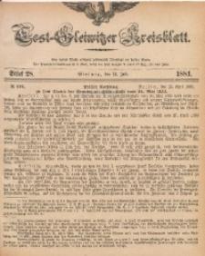 Tost-Gleiwitzer Kreisblatt, 1881, Jg. 39, St. 28