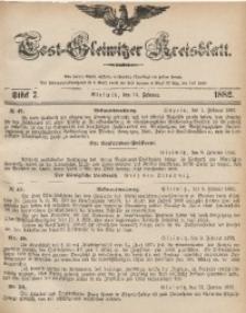 Tost-Gleiwitzer Kreisblatt, 1882, Jg. 40, St. 7
