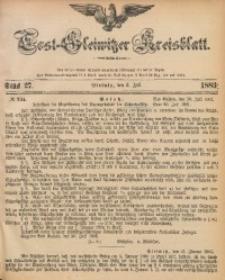 Tost-Gleiwitzer Kreisblatt, 1883, Jg. 41, St. 27