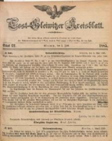 Tost-Gleiwitzer Kreisblatt, 1885, Jg. 43, St. 22