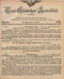 Tost-Gleiwitzer Kreisblatt, 1886, Jg. 44, St. 50