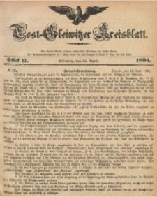 Tost-Gleiwitzer Kreisblatt, 1894, Jg. 52, St. 17