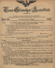 Tost-Gleiwitzer Kreisblatt, 1895, Jg. 53, St. 33