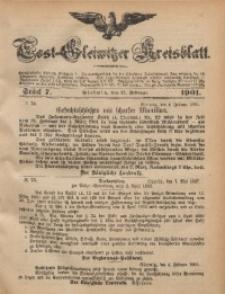 Tost-Gleiwitzer Kreisblatt, 1901, Jg. 59, St. 7