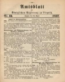 Amts-Blatt der Königlichen Regierung zu Liegnitz, 1897, Jg. 87, Nr. 17