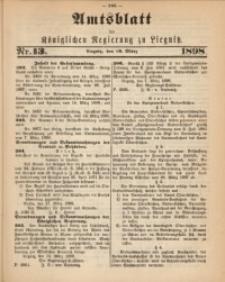Amts-Blatt der Königlichen Regierung zu Liegnitz, 1898, Jg. 88, Nr. 13