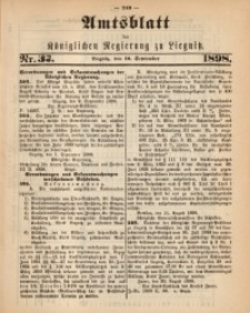 Amts-Blatt der Königlichen Regierung zu Liegnitz, 1898, Jg. 88, Nr. 37