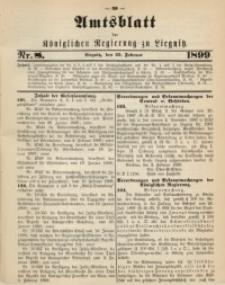Amts-Blatt der Königlichen Regierung zu Liegnitz, 1899, Jg. 89, Nr. 8