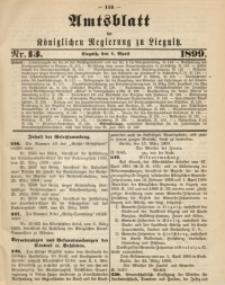 Amts-Blatt der Königlichen Regierung zu Liegnitz, 1899, Jg. 89, Nr. 13